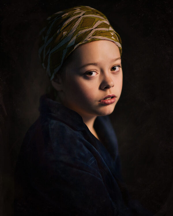 Canon color Rembrandt portrait of a young girl with the pearl by Willie Kers